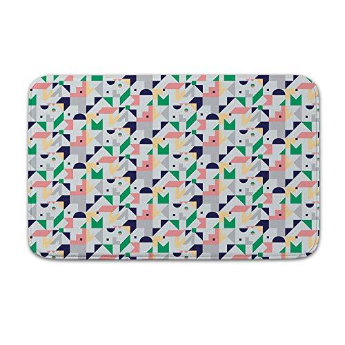 DKISEE Indoor Outdoor Entrance Rug Floor Mat Bathmat Abstract Geometric Pattern Doormat, 15.7