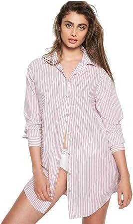 YL Pijamas para Mujer El Secreto De Victoria Ropa para El Hogar Suelto Algodón Estilo De La Camisa Pijama De Mujer: Amazon.es: Hogar
