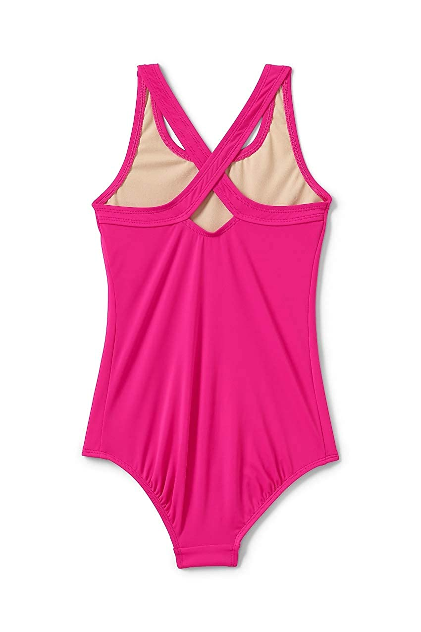 20693b61f7e1b Amazon.com: Lands' End Girls Racerback One Piece Swimsuit: Clothing