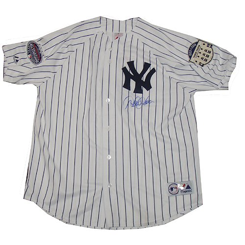 Derek Jeter Replica 2008 Yankees Home Jersey w/Patches