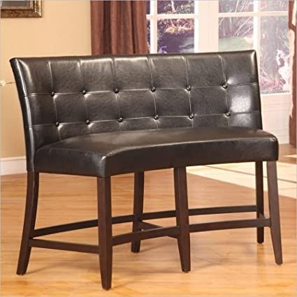 Wonderful Modus Furniture 2Y0270D Bossa Counter Height Banquette, Black Leatherette