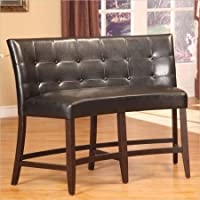 Modus Furniture 2Y0270D Bossa Counter Height Banquette, Black Leatherette