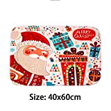 Noon-Sunshine decorative-plaques Merry Christmas Door Mat Santa Claus Flannel Outdoor Carpet Christmas Decorations for Home Xmas Party Favors Year,Style 3