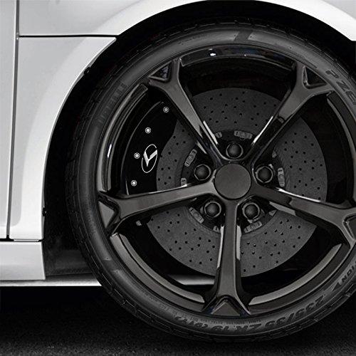 MGP Black Circle K Kia Logo Caliper Covers for 11-15 Kia