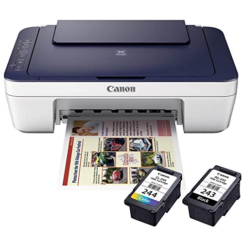 Canon Wireless Color Inkjet Printer Scanner Copier with 2 Ink Cartridges