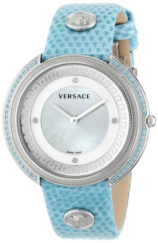 Versace Women's VA7100014 THEA Analog Display Quartz Blue Watch