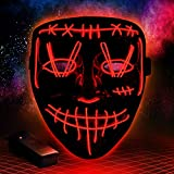 Halloween Purge Mask Light Up Scary Mask EL Wire