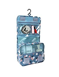 BlueBeach® Travel Toiletry Bag / Portable Makeup Organiser / Hanging Bathroom Cosmetic Grooming Case