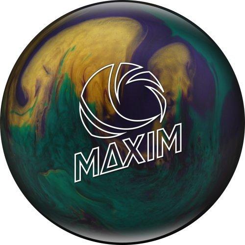 Ebonite Maxim Emerald Glitz Bowling Ball, Emerald/Purple/Gold, 6 lb