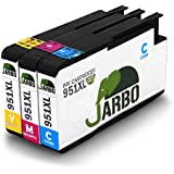 JARBO 3 Color Replacement for HP 951 Ink Cartridge(1xCyan 1xmagenta 1xYellow) 3 Pack Compatible with HP Officejet PRO 8600 8610 8620 8630 8640 8660 8615 8625 251dw 271dw