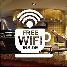 Cafe Bar Wireless Free WIFI Sign Sticker Window Decal