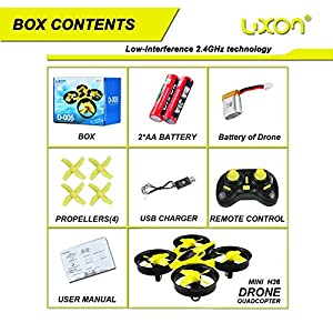 Mini Drone Headless RC Quadcopter Drone for Kids 2.4GHz 4CH 6 Axis Remote Control Helicopter Indoor / Outdoor Flying Small Airplane with One Key Return for Beginner (Yellow) from ZH Electrinic Co ., Ltd