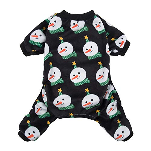 CuteBone Dog Pajamas Snowman Dog Coat Xmas for Puppy Dog Apparel Dog Jumpsuit Pet Clothes Pajamas Puppy Clothes P76M