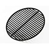 Big Green Egg Grill & Smoker Cast Iron & Half Moon Grids - Authentic Big Green Egg Parts & Accessories for the Serious Big Green Egg Grill & Smoker User - Satisfaction Guaranteed (Medium - 15'')