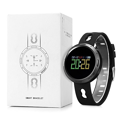 NACATIN IP68 Waterproof X9-VO Sports Watch with Pedometer, Heart Rate and Sleeping Monitor,Calories Consumption,Anti-Lost and Sedentary Reminder,Bluetooth 4.0 for Android and iOS,Black (Ram Chip Via Set)