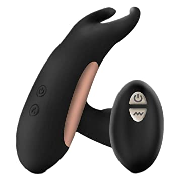 FENICAL Male Vibrating Prostate Massager Waterproof Black Silicone Anal  Plug Butt Plug Rechargeable Remote Anal Vibrator