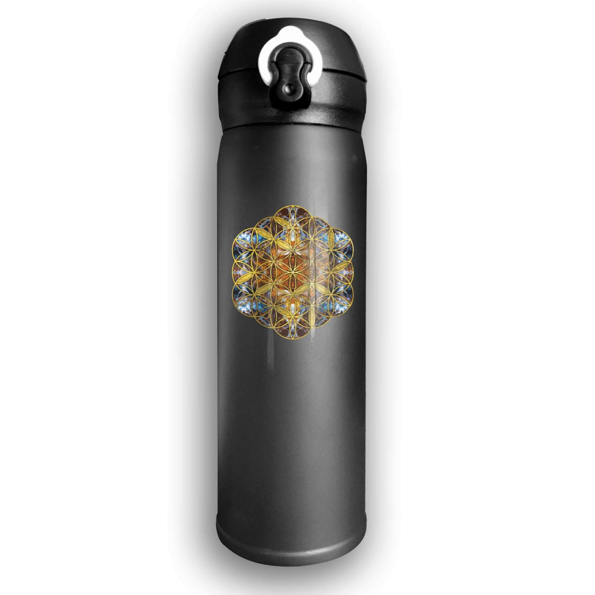 Black Leak-proof Camping /& All Sports Bevanda 25oz Water Bottle Vacuum Insulated Double Wall Shatterproof Stainless Steel Travel Thermos Mug With Narrow Mouth Design  Great For Coffee