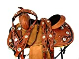 12 13 Custom Tooled Leather Show Barrel Racing Youth Child Pony Western Saddle