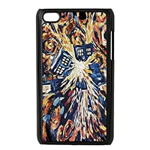 Custom Your Own Doctor Who Big Exploded art Painting Ipod Touch 4 case , Special designer Doctor Who Ipod 4 Case