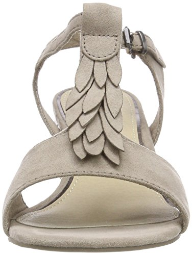 Tozzi Taupe Vertical Mujer Marco Sandalias Tira Beige 28209 con para zTXRqd