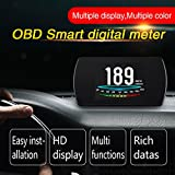 color tree 3 Inch P12 OBD2 Car HUD Head Up Display Speed Over Speed Alarm LED Screen OBD2 smart digital meter/Car On-board Computer