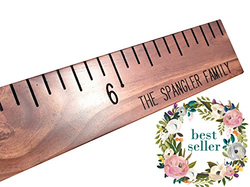 Custom hand routed growth chart, kids wooden ruler growth chart, measuring stick, personalized with family name or child's name, oversized
