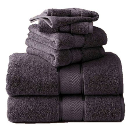 Better Homes and Gardens Thick and Plush Bath Towel Collection - 6 Piece Bath Towel, Gray Shadow