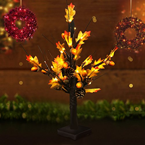 BRIGHT Maple Lights Battery Operated