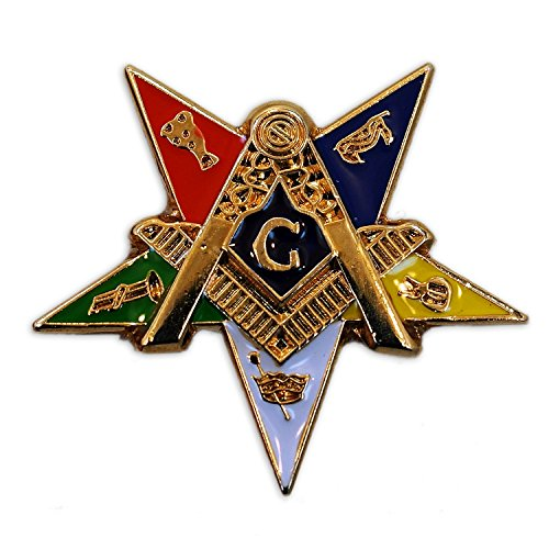 The Masonic Exchange Masonic Order of the Eastern Star Patron Lapel Pin - 1