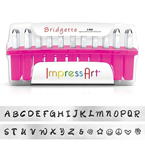 ImpressArt Bridgette Uppercase Letter Metal Stamps Set