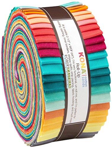 """Robert Kaufman 2-1/2"""" Strips Roll Up Kona Solids Designer 40 Piece from Robert Kaufman"""