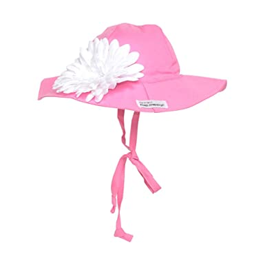 81fa296d69d Amazon.com: Flap Happy Baby Girls' Upf 50+ Floppy Hat with Flower ...