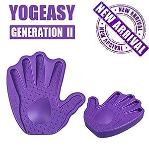 YOGEASY Premium Yoga Blocks for Better Wrist Protection for Yoga Exercise Non-Slip (8.5″)