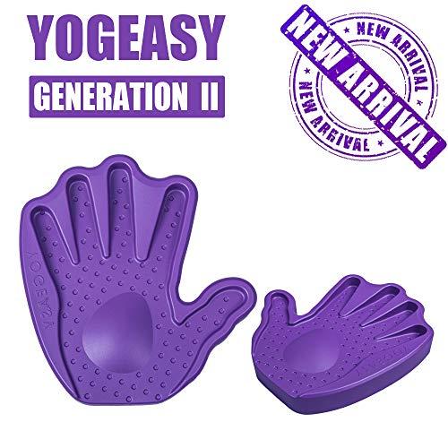 YOGEASY Premium Yoga Blocks for Better Wrist Protection for Yoga Exercise Non-Slip