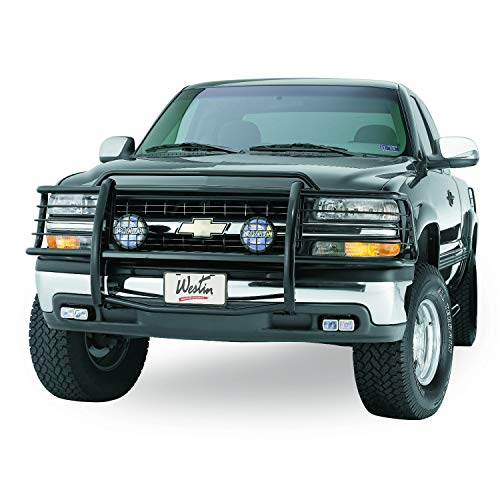Westin 40-0185 Sportsman Tough Black Powdercoat Finish Grille Guard - 1 Piece