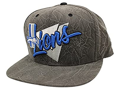 Mitchell & Ness Crease Triangle Script Detroit Lions Charcoal Snapback