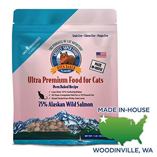 Grizzly Super Foods Oven Baked Cat Food (1 lb)