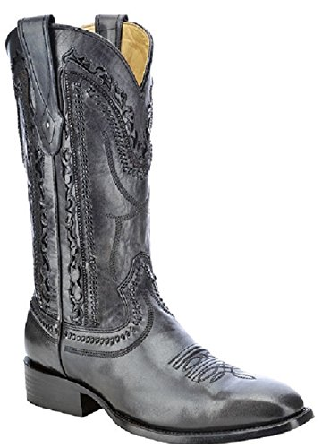 Corral Men's Laser Cut Whip-Stitch Cowboy Boot Square Toe...