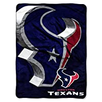 "Officially Licensed NFL Houston Texans Bevel Micro Raschel Throw Blanket, 60"" x 80"""