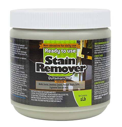 Vanity Granit (Ready to Use Stain Remover for Granite & Other Natural Stone - Oil, Grease & Tannin Stain Poultice 1lb.)