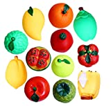 My NewBorn Squeezy Toys For Babies Bath Toys - (Pack 12 Fruits)
