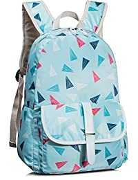 Leaper Unisex Fashion Casual Print Style 14 Inch Laptop School Girls Backpack for women Book Travel Bag Daypack Sky Blue