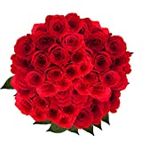GlobalRose 100 Red Roses- Long Stem Flowers- Express Delivery