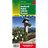 Hiking Maps of the Austrian Alps: Innsbruck, Stubai, Sellrain, Brenner
