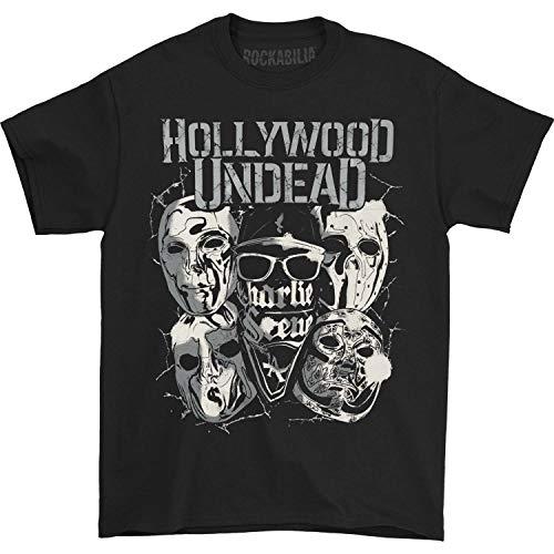 Hollywood Undead Men's Metal Masks T-Shirt X-Large Black