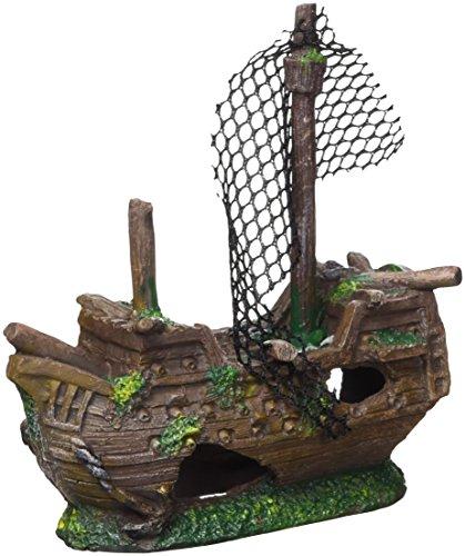 Marina Ornament Sunken Galleon, Small Galleon Pirate Ship