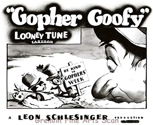 The Goofy Gophers In Gopher Goofy Leon Schlesinger Produced Warner Brothers At Amazon S Entertainment Collectibles Store