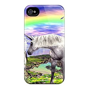 Fashion FtHZA3501ByfSM Case Cover For Iphone 4/4s(unicorns)