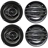 4) PIONEER TS-A1674R 6.5 350W 3-Way 600W Car Speakers