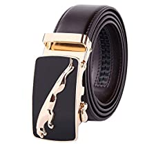 New Mens Automatic Alloy Buckle Leather Belt Designer Waist Strap